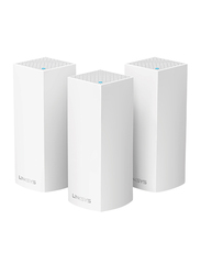 Linksys Velop Whole Home Wi-Fi Mesh System, Tri-band, 3-Pack, White