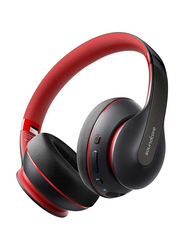Anker Soundcore Life Q10 Wireless Over-Ear Headphones, Red/Black