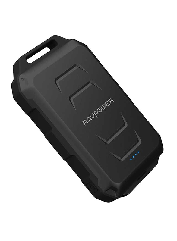 Rav Power 10050mAh RP-PB044 Fast Charging Waterproof Power Bank, Black