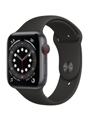 Apple Watch Series 6 - 44mm Smartwatch, GPS, Space Gray Aluminum Case with Black Sport Band