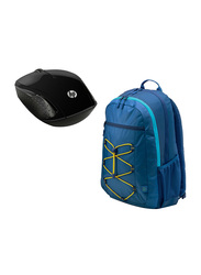 HP 200 Wireless Optical Mouse with Backpack Bag, Black