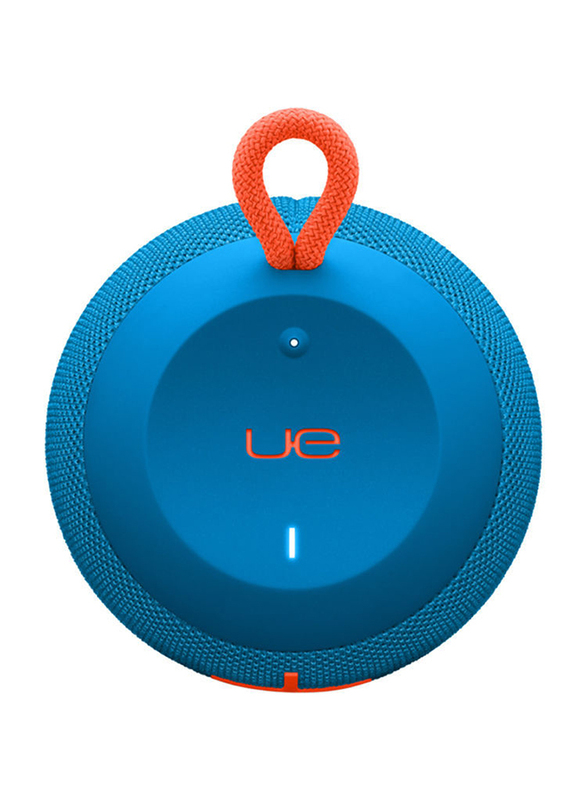 Ultimate Ears Wonderboom Water Resistant Wireless Portable Bluetooth Speaker, Blue