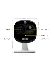 Yale All-in-One Surveillance Camera, 1800p, Full HD & WiFi, White