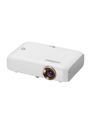 LG PH550 Minibeam 720p HD LED Wireless Portable Projector, 550 Lumens, Built-in Speaker, White