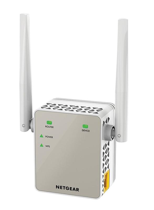 Netgear R6120+ EX6120 Dual Band Wi-Fi Router Bundle, Black