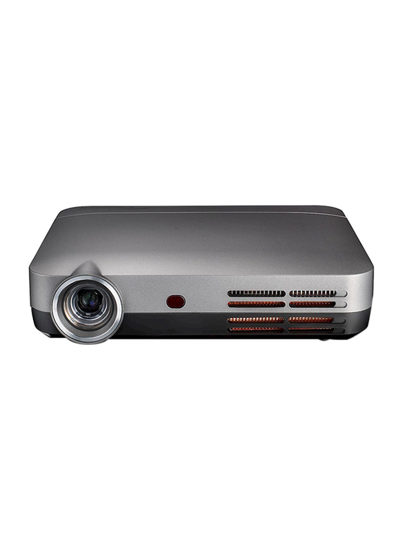 Optoma ML330 HD DLP Wireless Portable Home Entertainment Projector, Built-in Speaker, Grey/Black