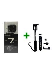 GoSmart Icon 7+ 4K Action Camera Bundle, 12 MP, Full HD, CMOS Sensor, Black