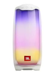 JBL Pulse 4 Water Resistant Portable Bluetooth Speaker, White