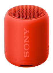 Sony SRS-XB12 Extra Bass Water Resistant Portable Wireless Bluetooth Speaker, Red