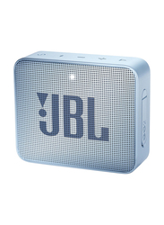 JBL Go 2 Water Resistant Portable Bluetooth Speaker, Icecube Cyan