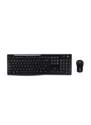 Logitech MK270 Wireless English Keyboard and Mouse Combo Set, Black