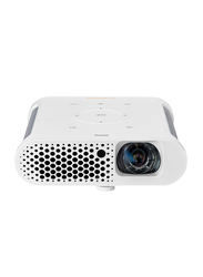 BenQ GS1 Portable HD LED Projector for Outdoor Families, 300 Lumens, Built-in Speaker, White