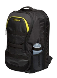 Targus Work+ Play Fitness 15.6-inch Backpack Laptop Bag, Black/Yellow