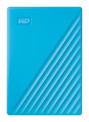 Western Digital 4TB HDD My Passport External Portable Hard Drive, USB 3.2, WDBPKJ0040BBL-WESN, Light Blue