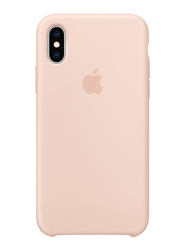 Apple Silicone Back Case Cover for Apple iPhone XS Mobile Phone, Pink Sand