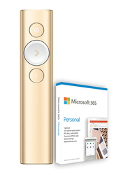 Logitech Spotlight Plus Presentation Remote with Microsoft 365 Personal, Gold