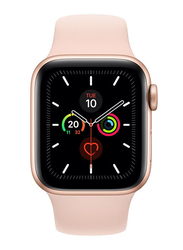 Apple Watch Series 5 - 40mm Smartwatch, GPS, Gold Aluminum Case with Pink Sand Sport Band