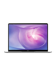 "Huawei Matebook 13 Laptop, 13"" IPS Touch Display, Intel Core i5-10210U 10th Gen 1.6GHz, 512GB SSD, 8GB RAM, Intel UHD Graphics 620, EN KB, Win 10, MATEBOOK 13-53010UKR, Mystic Silver"