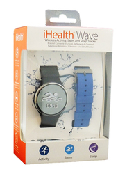iHealth Wave AM4 Wireless Activity Fitness Tracker, Waterproof, 2 Straps, Bluetooth, Black/Blue Band