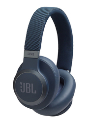 JBL Live 650BTNC Wireless Over-Ear Noise Cancelling Headphones, Blue