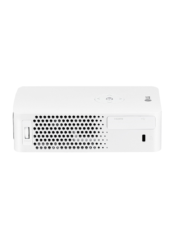 LG PH30JG Minibeam HD LED Wireless Portable Projector, 250 Lumens, Built-in Battery, White