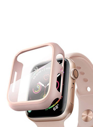 Hyphen Tempered Glass Protector for Apple Watch 44mm, Rose Gold