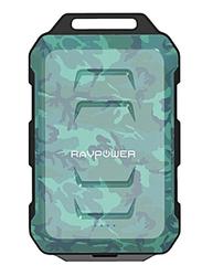 Rav Power 10050mAh RP-PB044 Fast Charging Waterproof Power Bank, Green