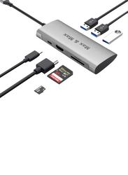 Max & Max 7-in-1 USB Type-C Hub, MX-MC106, Grey