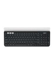 Logitech K780 Multi-Device Bluetooth English Keyboard, with Silent Typing, Black