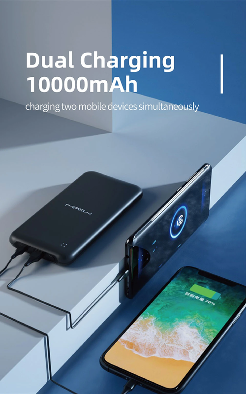 Mipow 10000mAh PowerCube PD Fast Charging Power Bank with Type-C USB Input, Grey