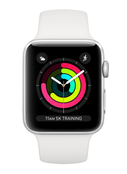 Apple Watch Series 3 - 42mm Smartwatch, GPS, Silver Aluminum Case with White Sport Band