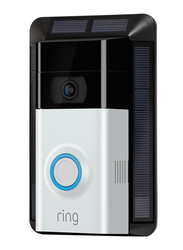 Ring Solar Mount Charger 2.0 for Ring Video DoorBell 2, Black