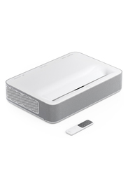 Vava VA-LT002 4K Ultra HD DLP Wired/Wireless Home Theatre Projector, 2500 Lumens Claimed, Ultra Short Throw, White