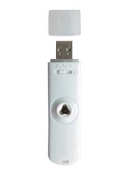 Innobiz Keylia Portable USB Essential Oil Aroma Diffuser with Car Adapter, White