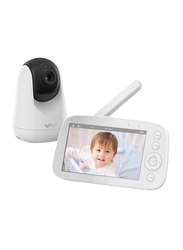 VAVA Baby Monitor with Night Vision, 5 inch LED IPS 720p HD Display, 480ft Range, 4500mAh Battery, Two-Way Audio, Thermal Monitor V1.1 Version, White