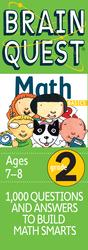 Brain Quest Grade 2 Math, Cards Book, By: Marjorie Martinelli