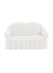 Fabienne Two Seater Sofa Cover, White