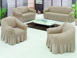 Fabienne 4-Piece Sofa Cover Set, Beige