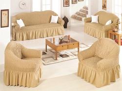 Fabienne 4-Piece Sofa Cover Set, Light Beige
