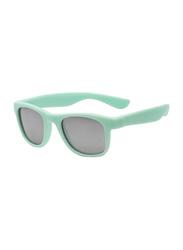 Koolsun Full Rim Wave Sunglasses Kids Unisex, Mirrored Silver Lens, KS-WABA001, 1-5 years, Bleached Aqua