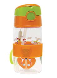 Oops Chic Cool Straw Water Bottle 400ml, City, Orange