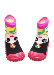 Cool Grip Girl Pink Baby Shoe Socks for Girls, Size 20, 12-18 Months, Pink