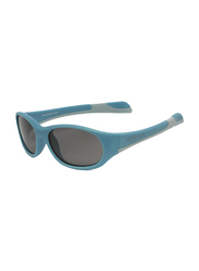 Koolsun Fit Full Rim Sunglasses for Kids, Smoke Lens, 1-3 Years, Cendre Blue Grey