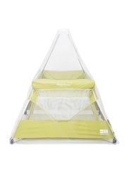 BabyHub SleepSpace Travel Cot, Kiwi Green
