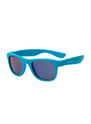 Koolsun Full Rim Wave Sunglasses for Boys, Mirrored Blue Lens, KS-WANB003, 3-10 years, Neon Blue