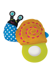 Oops Easy Baby Teether, Snail, Blue/Orange/Green