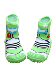Cool Grip Dragonfly Baby Shoe Socks Unisex, Size 21, 18-24 Months, Green