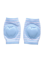 B-Safe Apple Stripes Knee Pads Unisex, Cotton, 18-24 Months, Blue