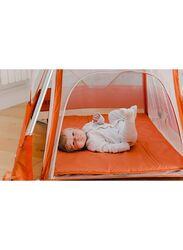 BabyHub SleepSpace Travel Cot, Tangerine Orange