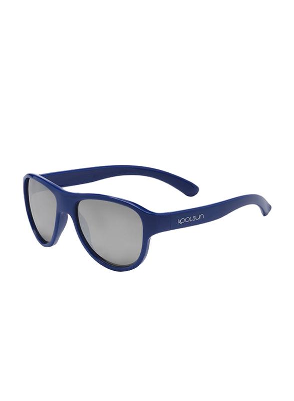Koolsun Full Rim Air Sunglasses Kids Unisex, Grey Lens, KS-AIDU003, 3-10 years, Deep Ultramarine